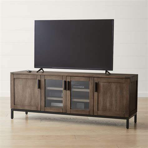 cabinet cool under cabinet tv for home small flat screen wyatt grey 72 quot media console reviews crate and barrel