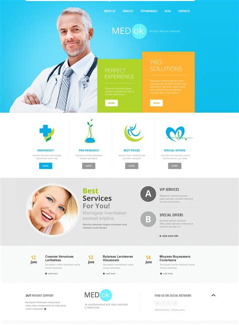template joomla medical medical services joomla template 46035