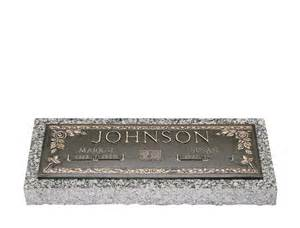granite flat markers with vase pictures to pin on