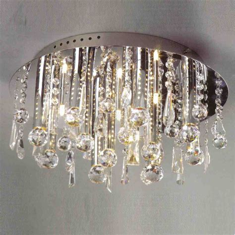 chrome crystal 4 light round ceiling chandelier brizzo lighting stores 14 quot miraggio modern crystal flush