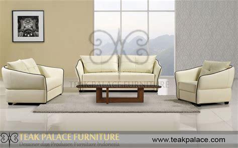 Sofa Jati Di Medan sofa minimalis kulit oscar putih seri medan harga murah mebel jepara