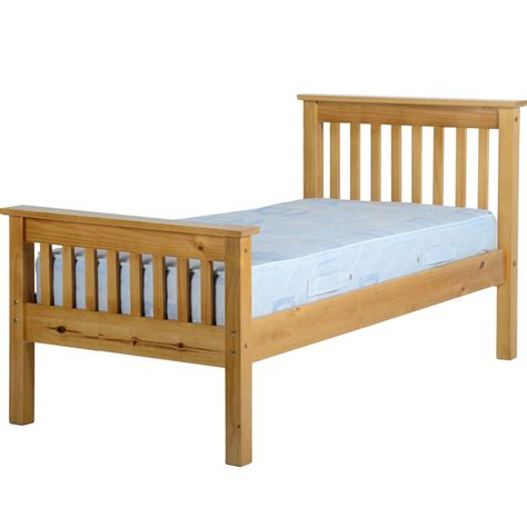 High Frame Bed Ville High End Single Bed Frame Antique Pine At Wilko