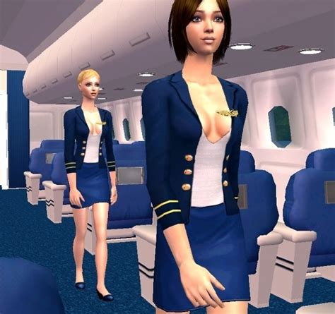 sexy flight attendants threads mod the sims airport mania pilot and flight attendant
