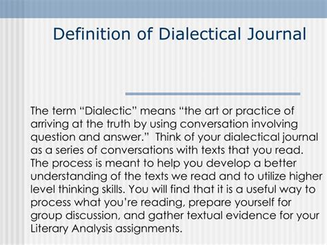 powerpoint tutorial definition ppt definition of dialectical journal powerpoint