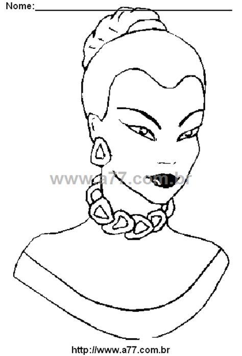 Desenho Para Colorir Tema: Rosto de Mulher. Rosto Para
