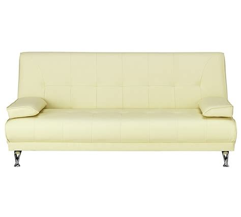 argos 2 seater sofa bed buy sicily 2 seater leather effect clic clac sofa bed cream at argos co uk your online shop