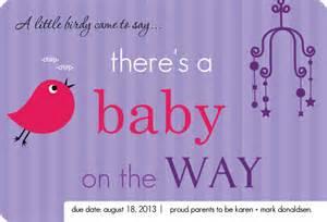 Pregnancy Announcement Templates by Birdie Purple Pregnancy Announcement Template