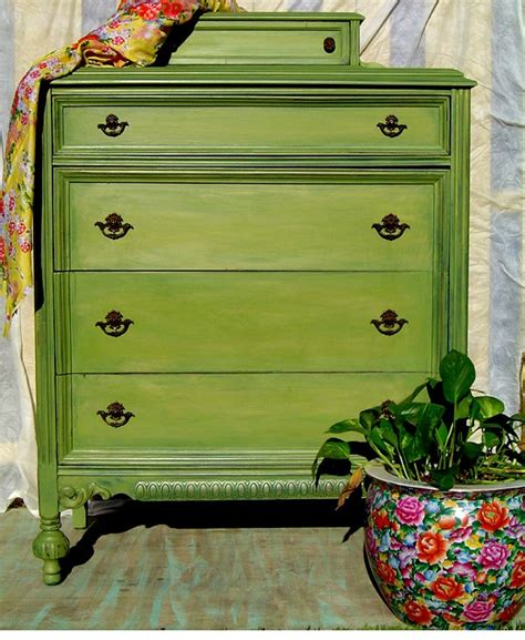 Distressed Green Dresser by Vintage Green Dresser Painted Pale Green Distressed Aged