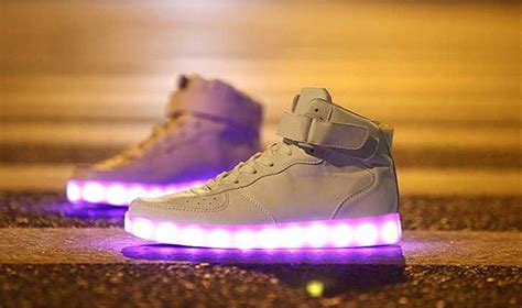 light up air force ones white light up led hi top sneakers shoes trainers like air