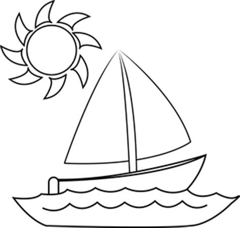 small sun coloring page sailboat clipart image coloring page of a small sailboat