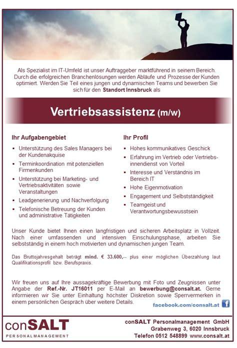 Bewerbung Bitte Diskretion Vertriebsassistenz M W Als Spezialist Im It Umfeld Ist