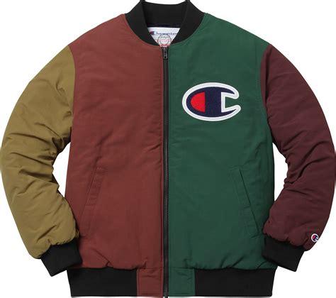 supreme supreme 174 champion 174 color blocked jacket