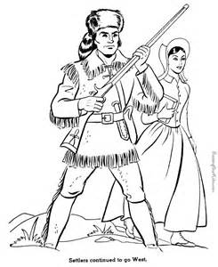 coloring pages for us history settlers go west history coloring page for 030