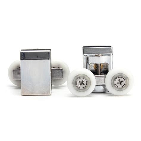 2pcs Double Wheels Shower Door Top Rollers For Sliding Shower Sliding Door Rollers