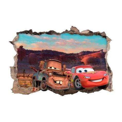 Fenetre Pour Salle De Bain 4786 by Mur De Vinyle 3d Disney Cars 2 Trou