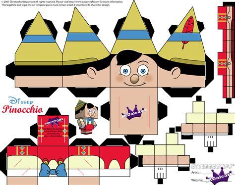 Disney Papercraft - disney pinocchio cubeecraft papercraft skgaleana