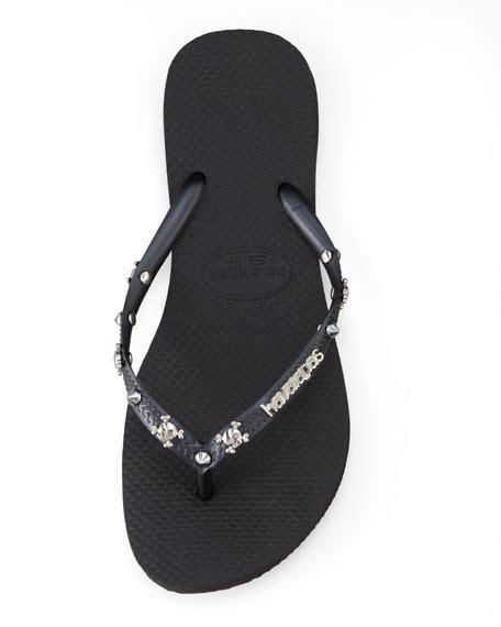 Flip Studded havaianas slim studded flip flop black
