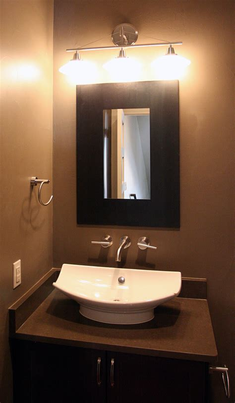what is the powder room fantastic finishes on a contemporary denver duplex