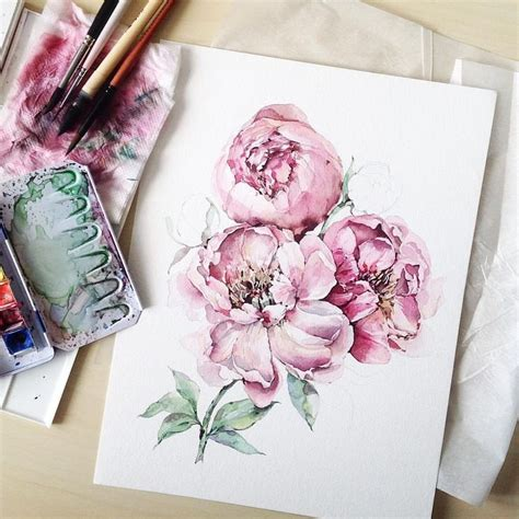 watercolor peony tattoo 25 beautiful peony drawing ideas on peonies