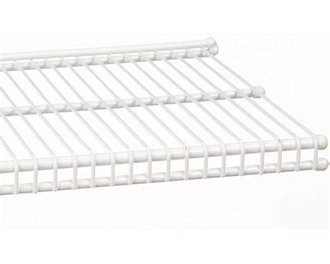 freedomrail 9 inch profile wire shelving white in