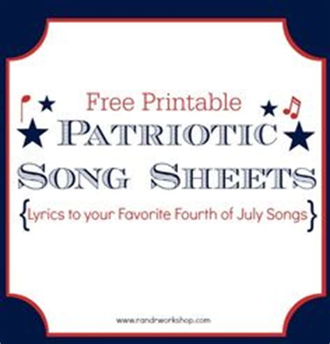 printable lyrics to you re a grand old flag 1000 images about printables 6 on pinterest printables
