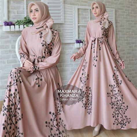 gamis terbaru khanza maxi maxmara baju muslim modern