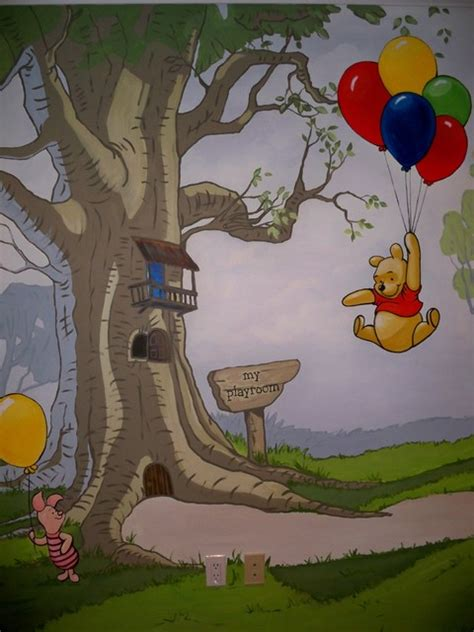 winnie the pooh wall murals winnie the pooh mural playroom traditional toronto by murals by marg