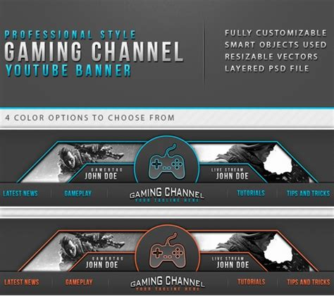 Youtube Banner Templates 21 Free Psd Ai Vector Eps Format Download Free Premium Templates Gaming Channel Template