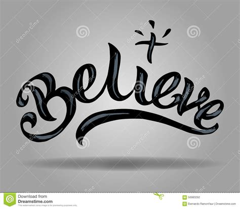 believe images believe stock vector image 56983292