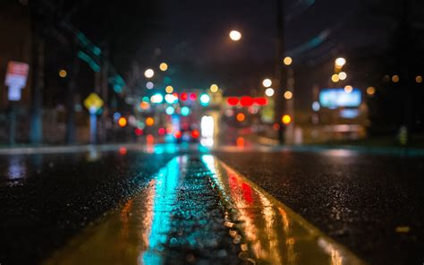 wallpaper mac city city lights wet street inspiration with color