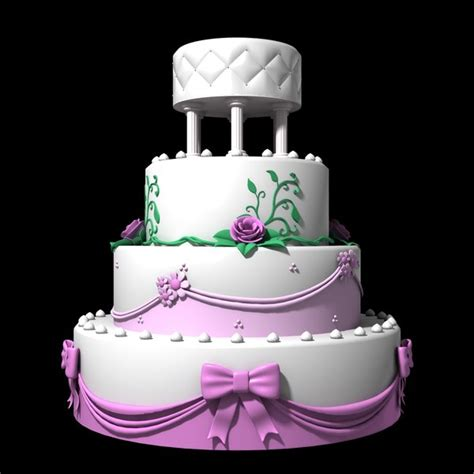 wedding cake model wedding cake 3d dxf