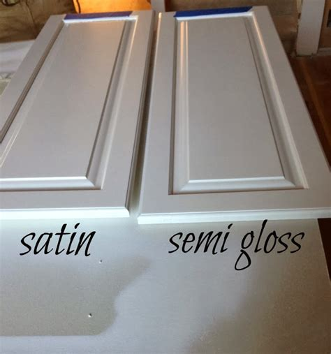 satin or semi gloss for kitchen cabinets acrylic paint for cabinets what s the difference between