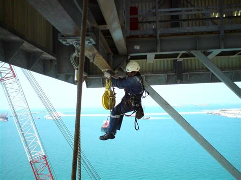 Offshore Welder by File Industrial Rope Access On Rig Jpg