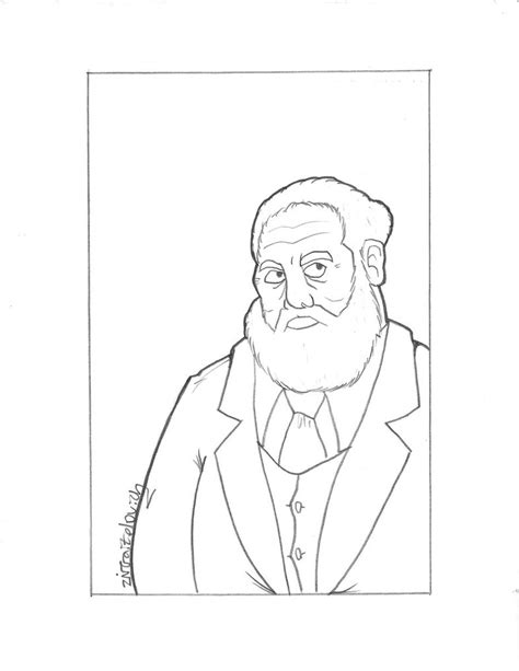 alexander graham bell telephone coloring page sketch