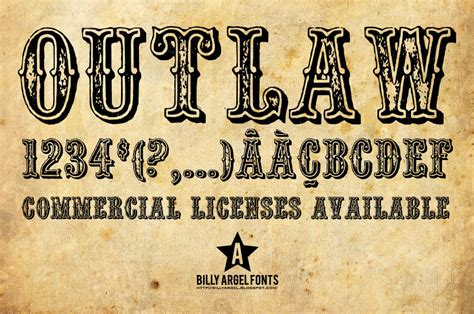 tattoo fonts billy argel outlaw font details font site script