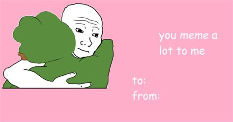 Meme Valentines Card - you meme me alot valentine s day e cards know your meme