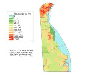 delaware population map mapsof net