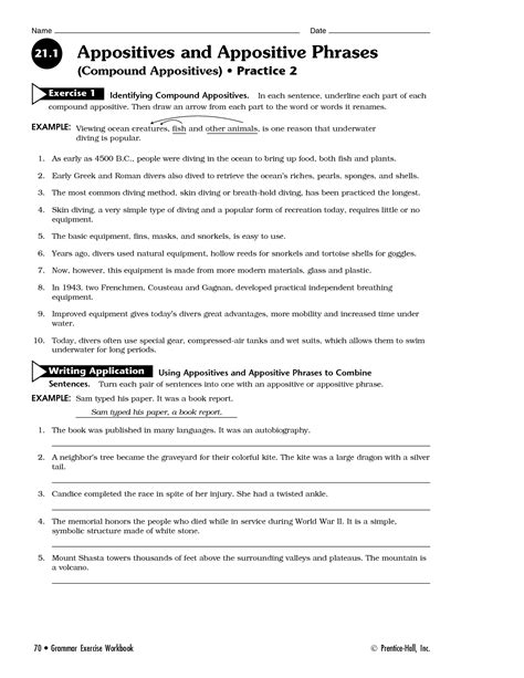 Appositive Worksheets by 20 Best Images Of Identifying Appositives Worksheets