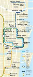 Miami Metromover Map by How To Ride The Train In Miami Public Transportation