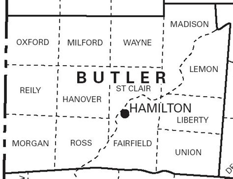 Butler County Ohio Records 1836 Butler Co Ohio Plat Maps Kowallek Family On The Web