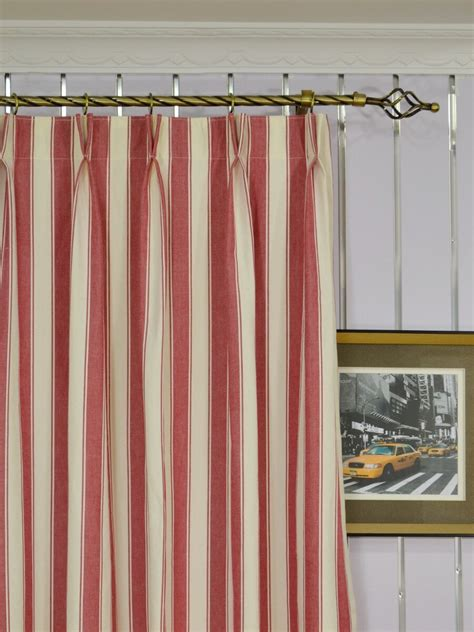 108 inch pinch pleat curtains moonbay narrow stripe double pinch pleat cotton extra long