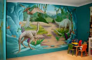 Dinosaur Wall Mural kids bedrooms with dinosaur themed wall art and murals