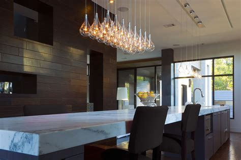 Over Island Kitchen Lighting - modern kitchen pendant lighting for a trendy appeal