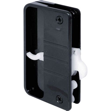 plastic sliding screen door latch and pull with security lock black