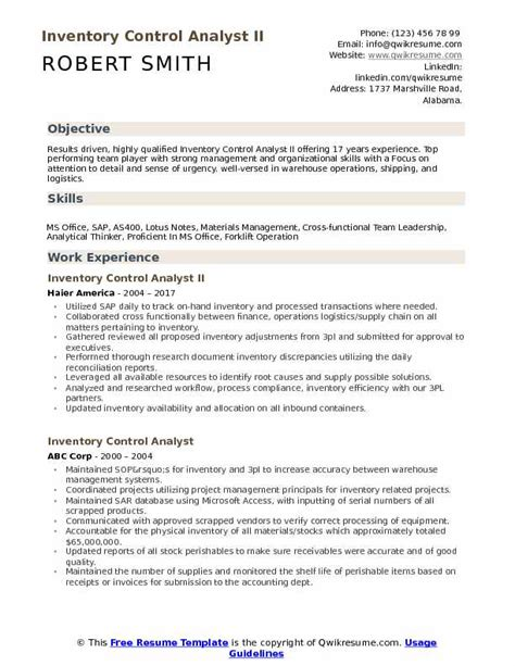 inventory control resume samples retail resume sample 12 cv