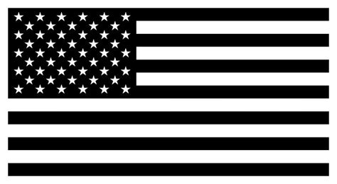 Rebel Flag Home Decor by American Flag Black And White Version Digital Art By War