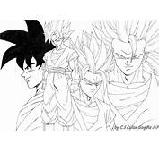 Coloriage Dragon Ball Z  Les Beaux Dessins De Dessin Anim&233 &224