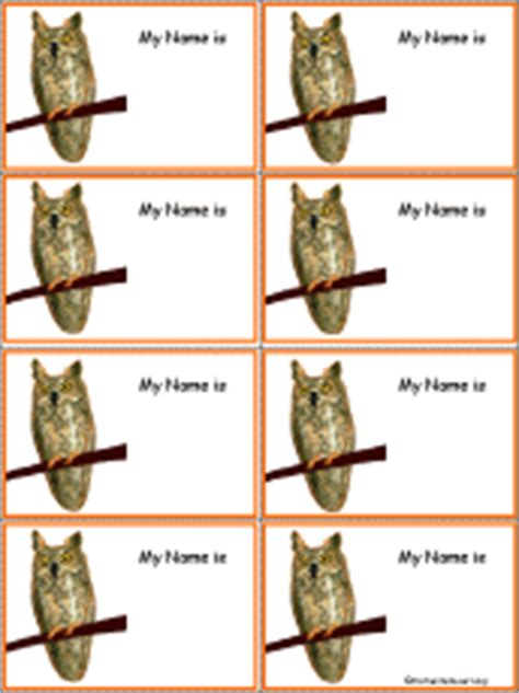 penguin nametags to print in color enchantedlearning com owl nametags to print in color enchantedlearning com