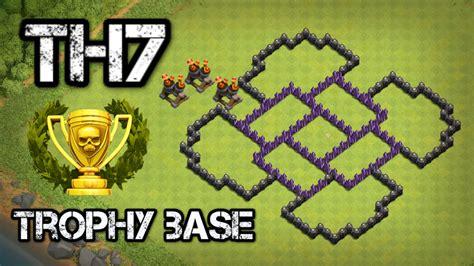 best defense clash of clans town 7 defense coc th7 best trophy