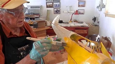 piper cub restoration   model painting piper yellow